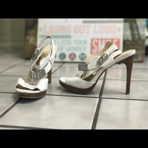 Calvin Klein White Heels